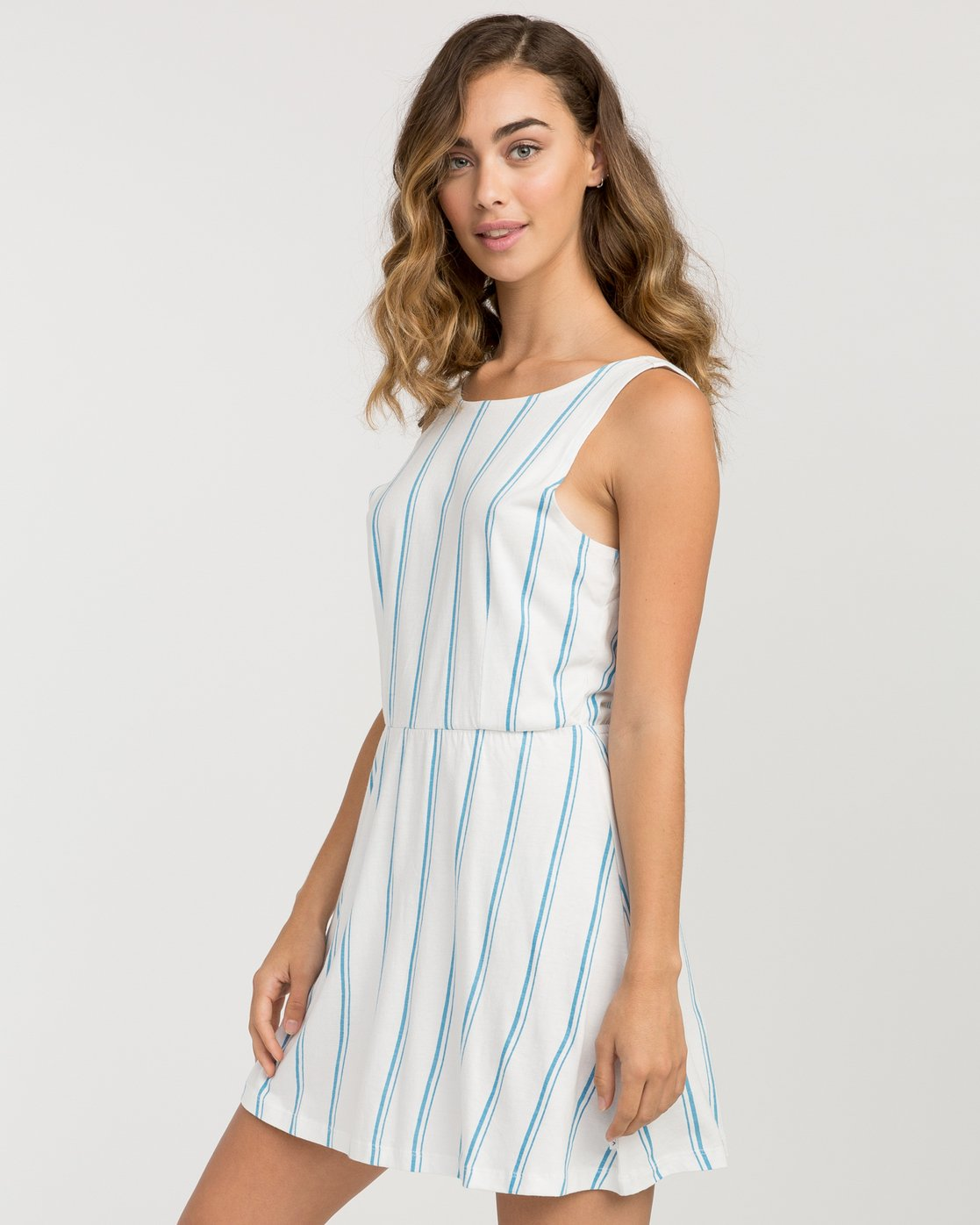 1 Peony Striped Dress White WD05PRPE RVCA