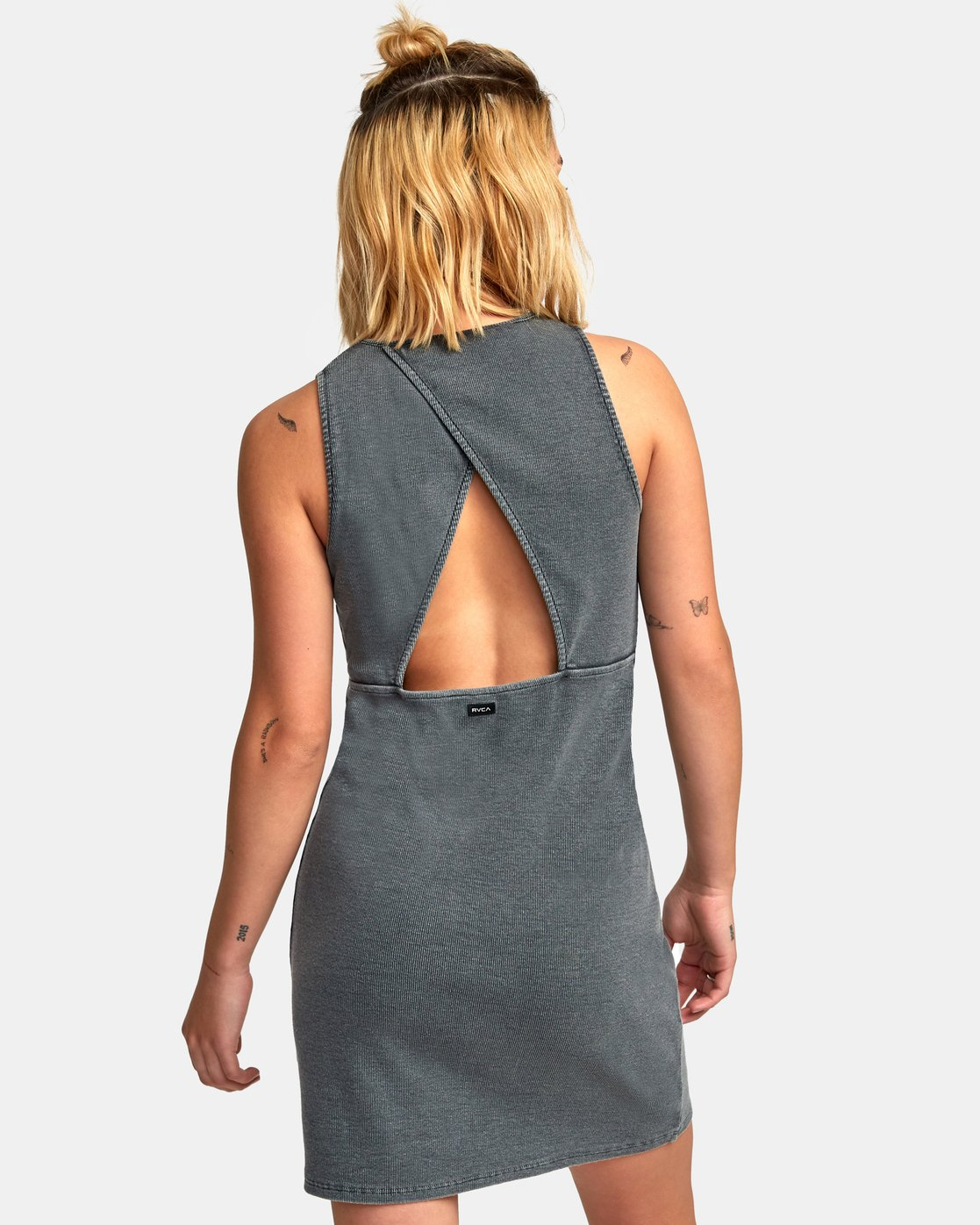 2 Dime A Dozen Ribbed Tank Dress Blue WD05WRDI RVCA