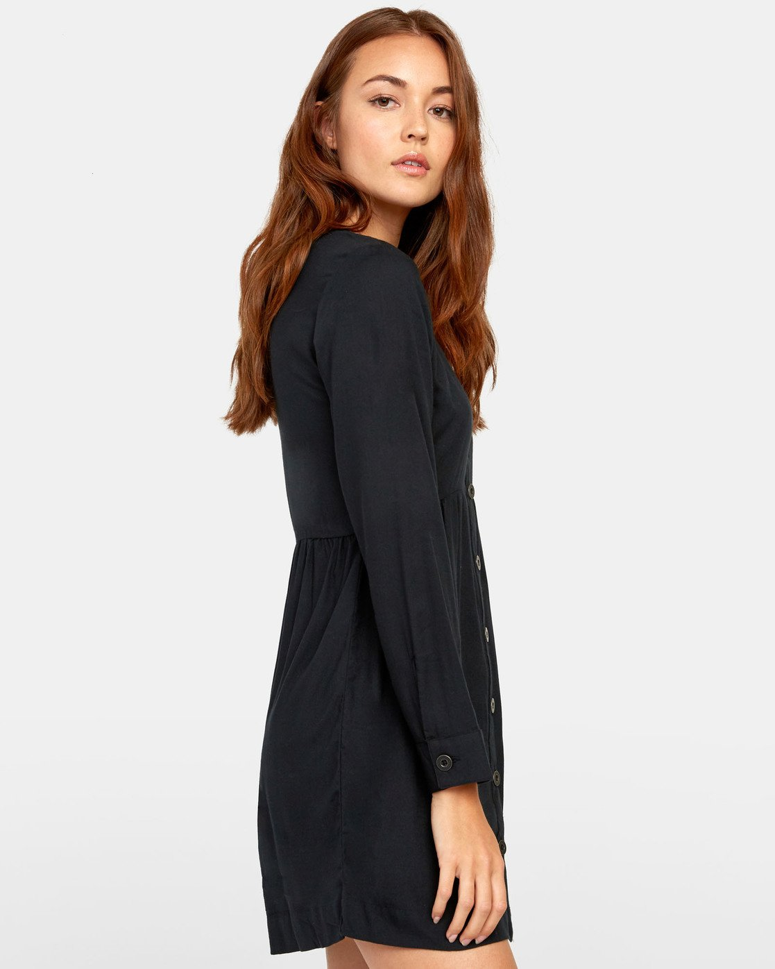 1 HARLEY BUTTON-UP DRESS Black WD061RHA RVCA