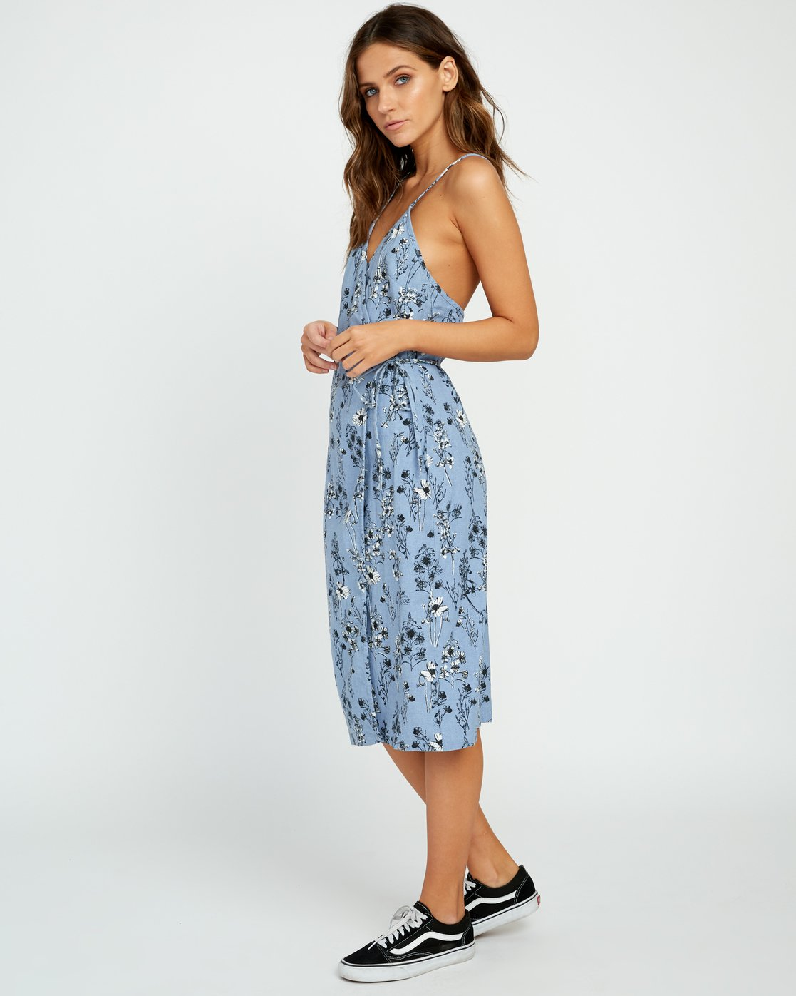 1 Kioko Floral Midi Wrap Dress  WD06URKI RVCA