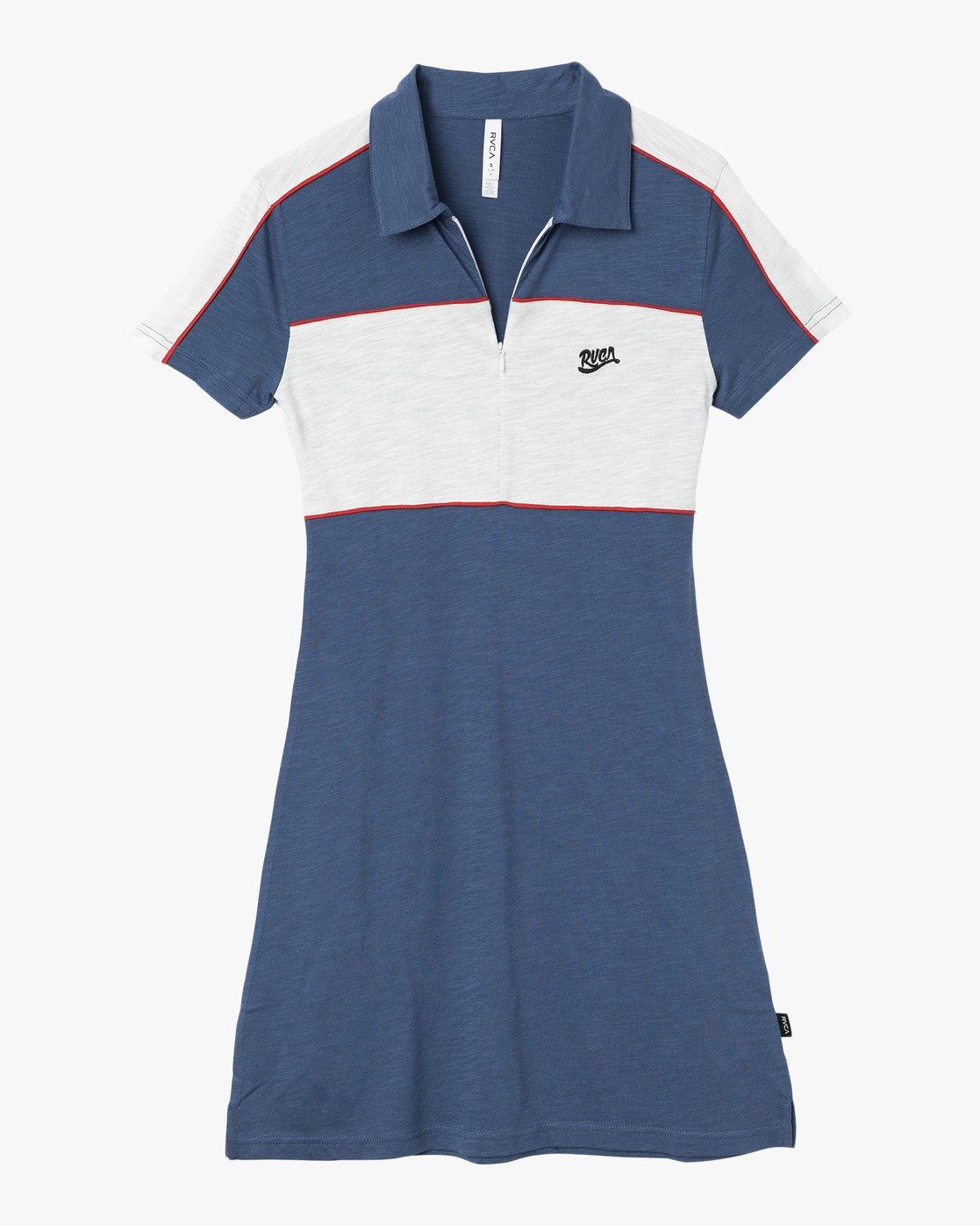 5 Hex Polo Zip Dress  WD07PRHE RVCA