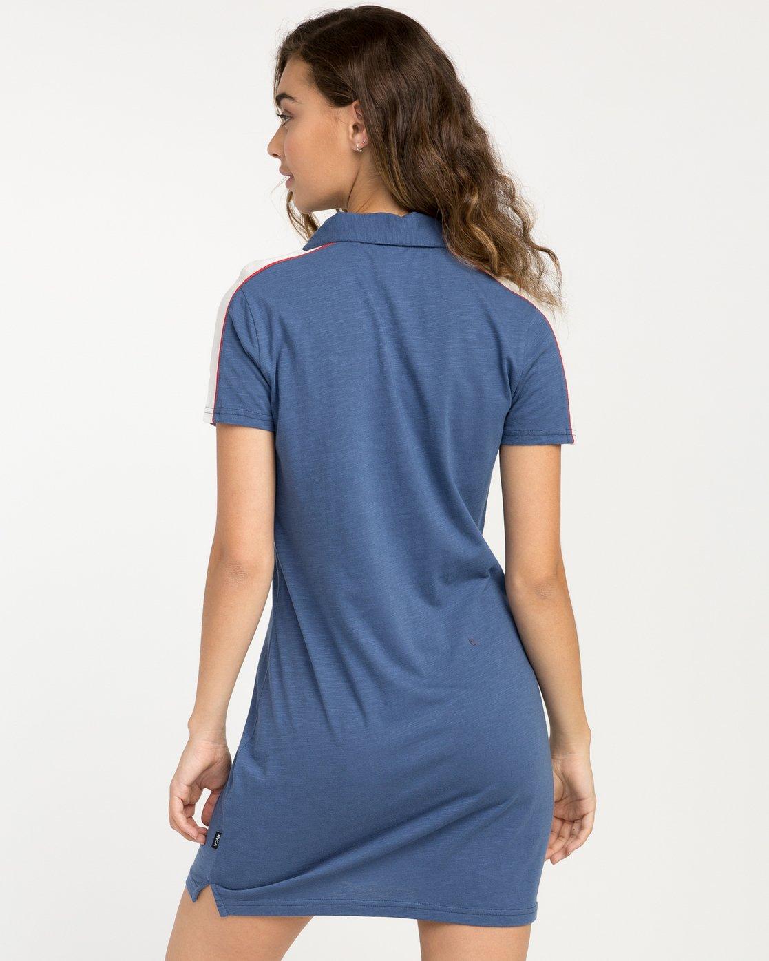 2 Hex Polo Zip Dress  WD07PRHE RVCA