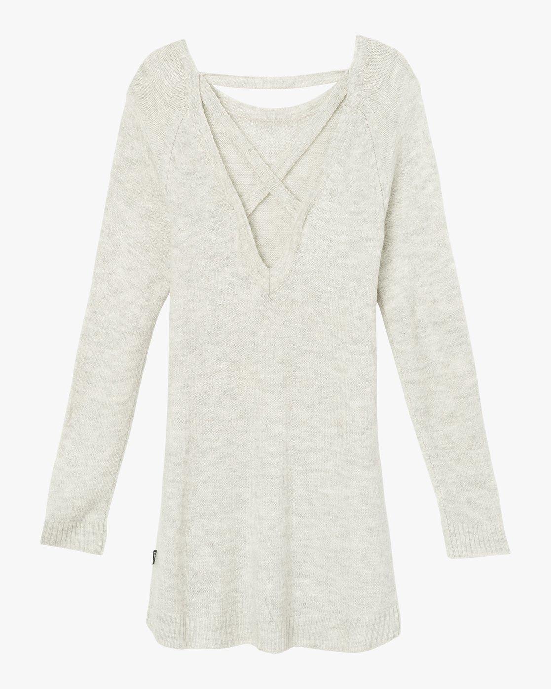 6 De La Sweater Dress Grey WD07SRDE RVCA