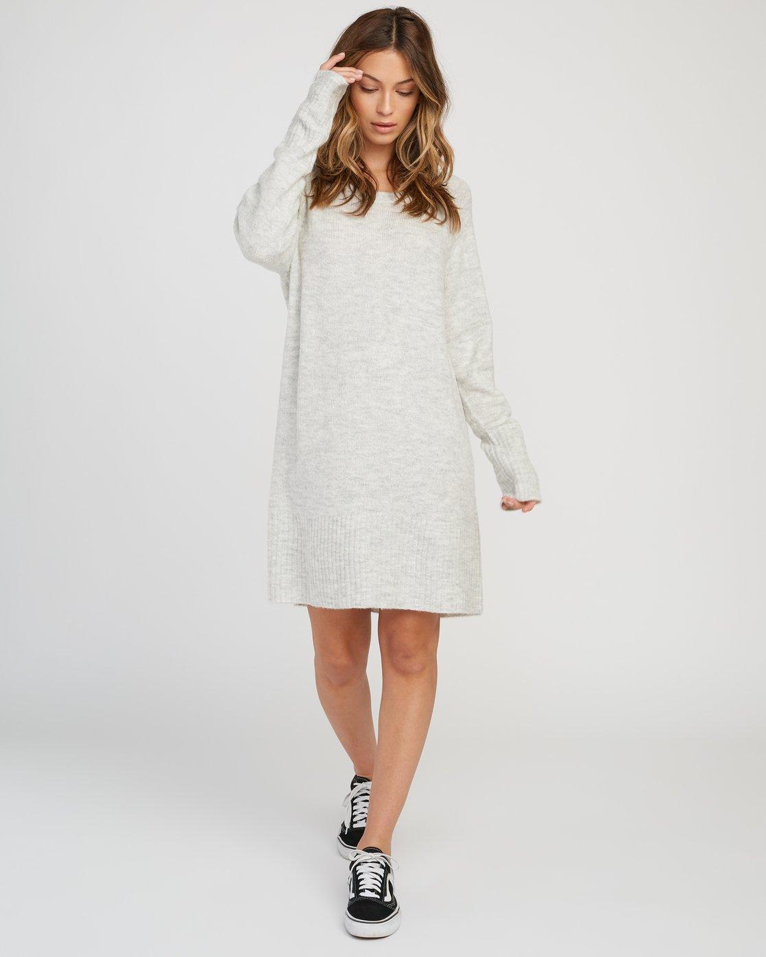 4 De La Sweater Dress Grey WD07SRDE RVCA