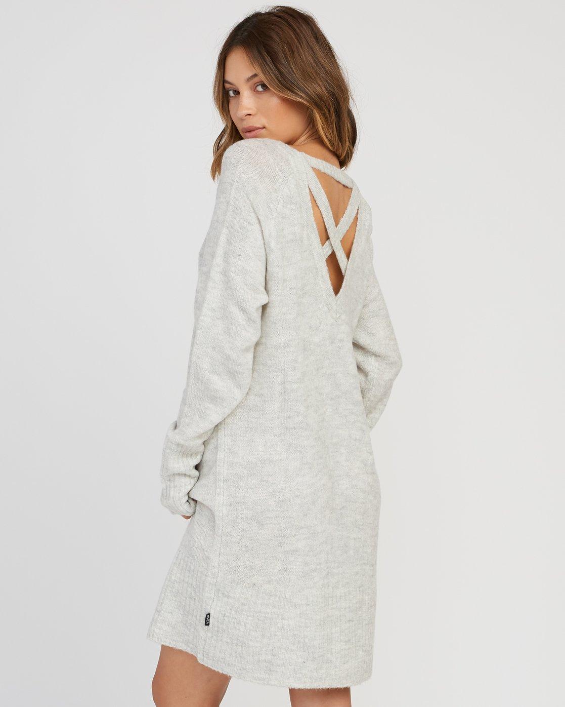 2 De La Sweater Dress Grey WD07SRDE RVCA