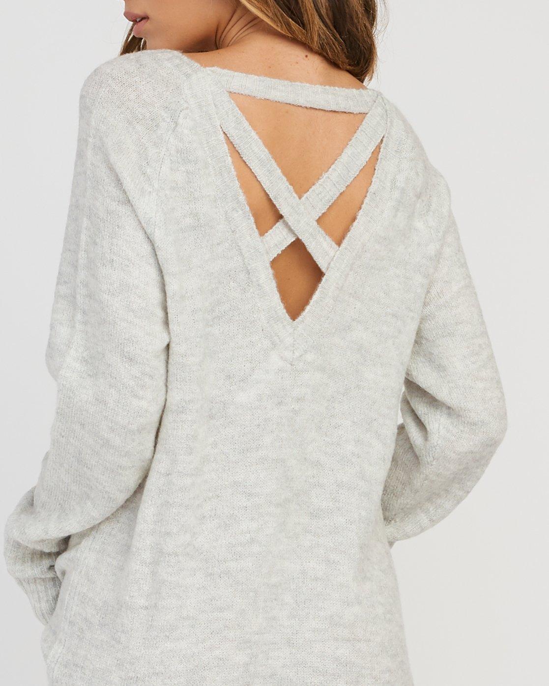 3 De La Sweater Dress Grey WD07SRDE RVCA