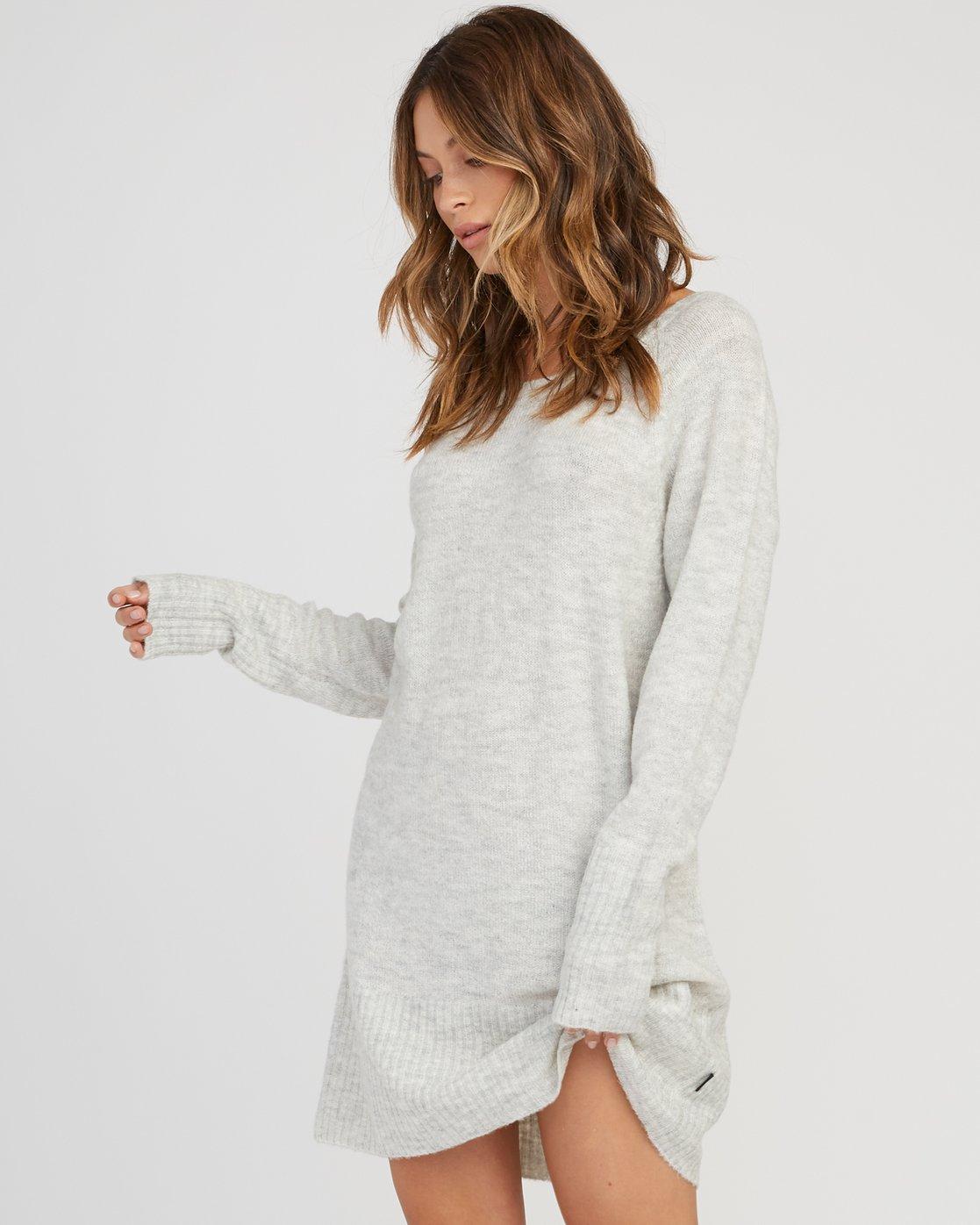 1 De La Sweater Dress Grey WD07SRDE RVCA