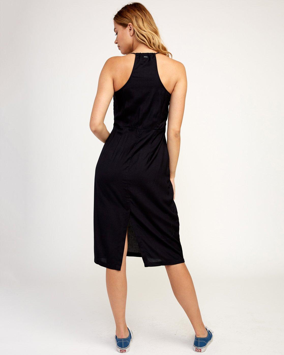 3 Cece Woven Midi Dress Black WD07TRCE RVCA