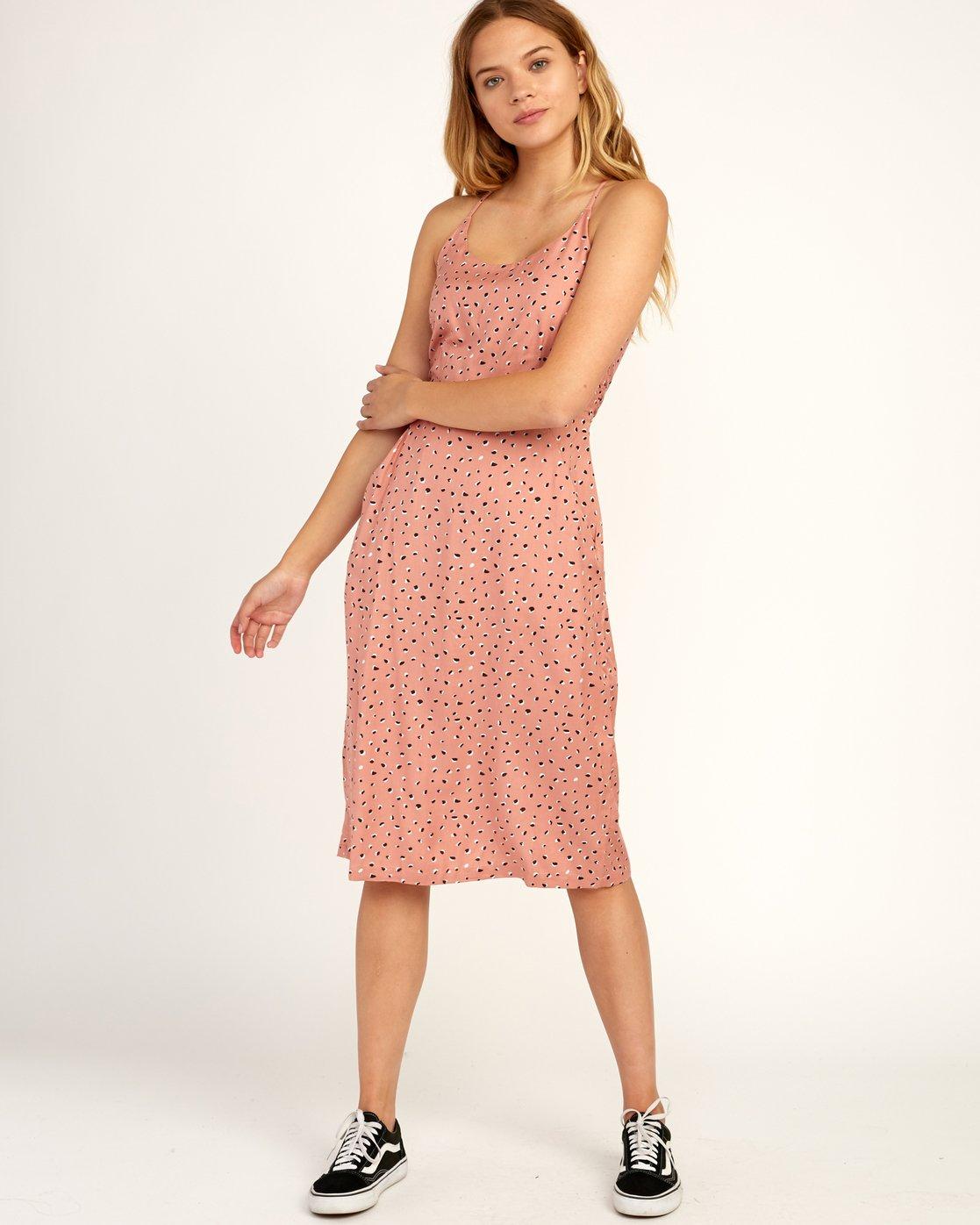 0 Cece Woven Midi Dress Brown WD07TRCE RVCA