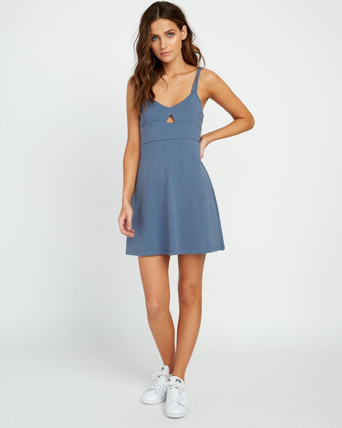 3 All Talk Knit Dress Blue WD07URAL RVCA