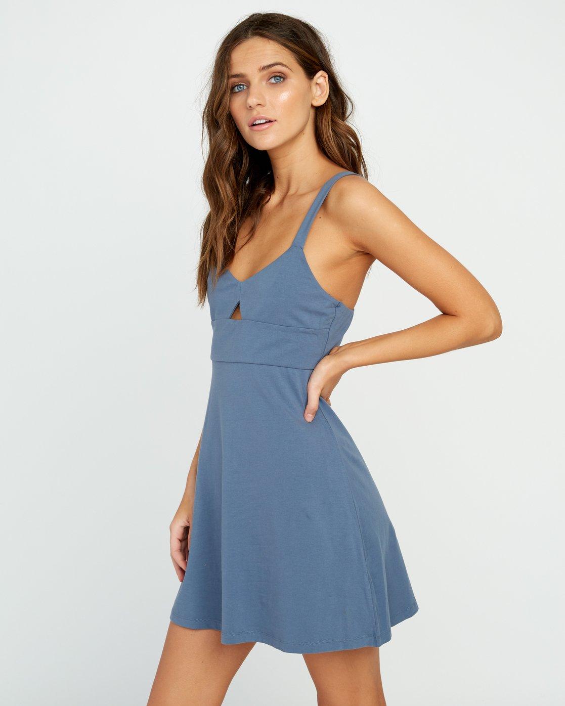 1 All Talk Knit Dress Blue WD07URAL RVCA