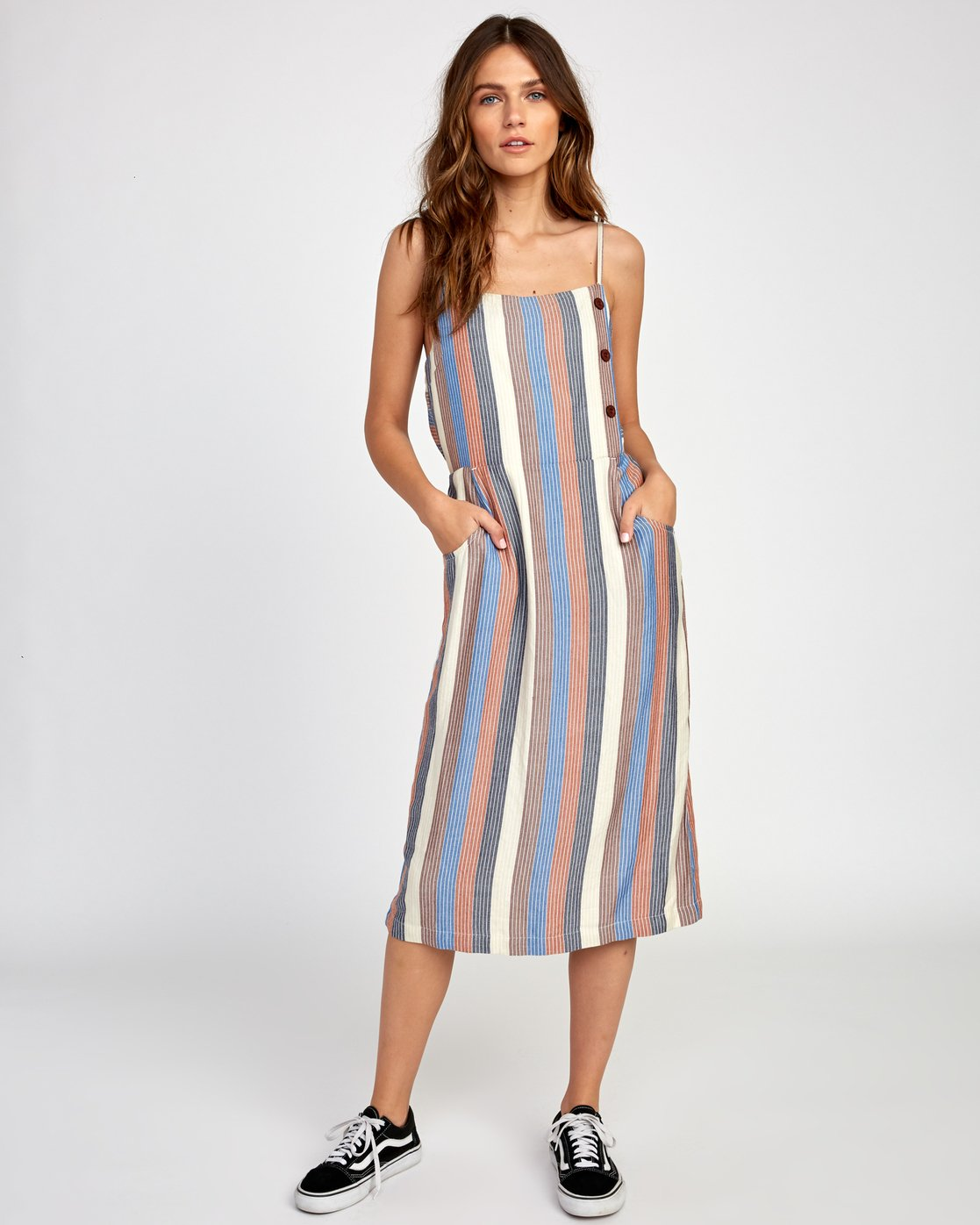 0 Proxy Striped Midi Dress  WD07VRPR RVCA