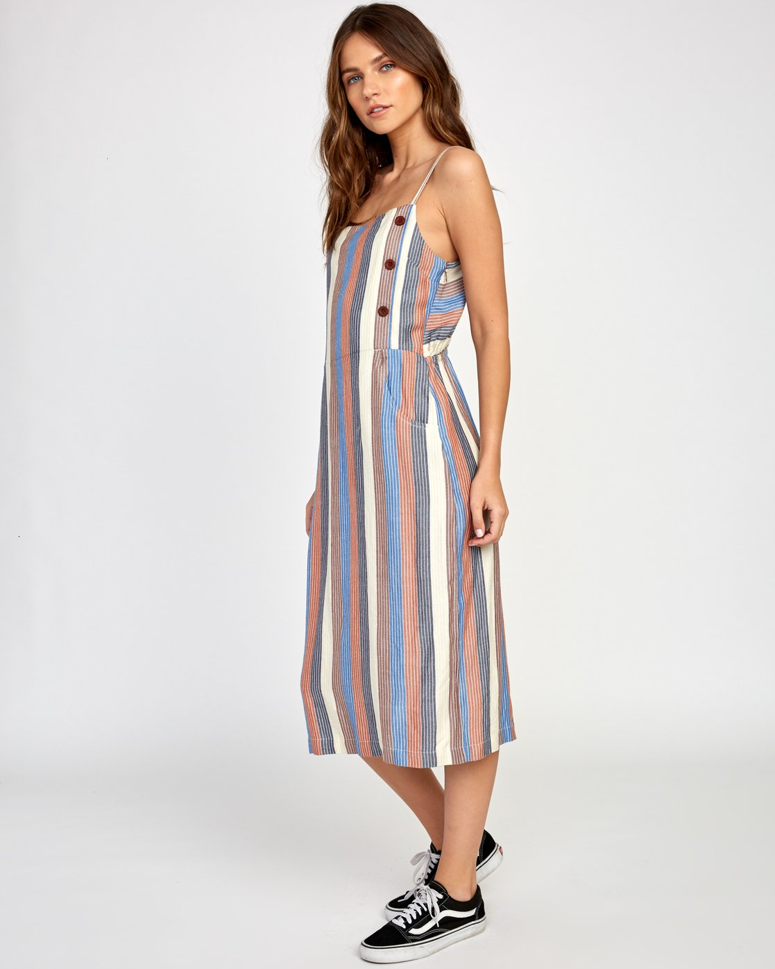 1 Proxy Striped Midi Dress  WD07VRPR RVCA