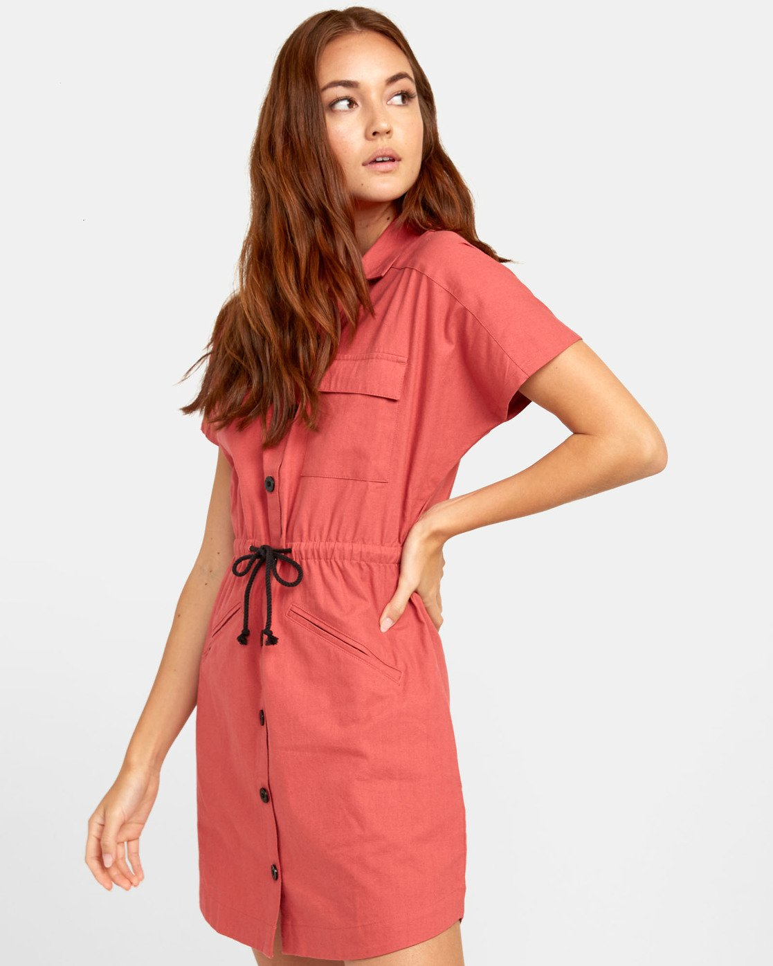 2 EDUCATE SHIRT DRESS Red WD081RED RVCA