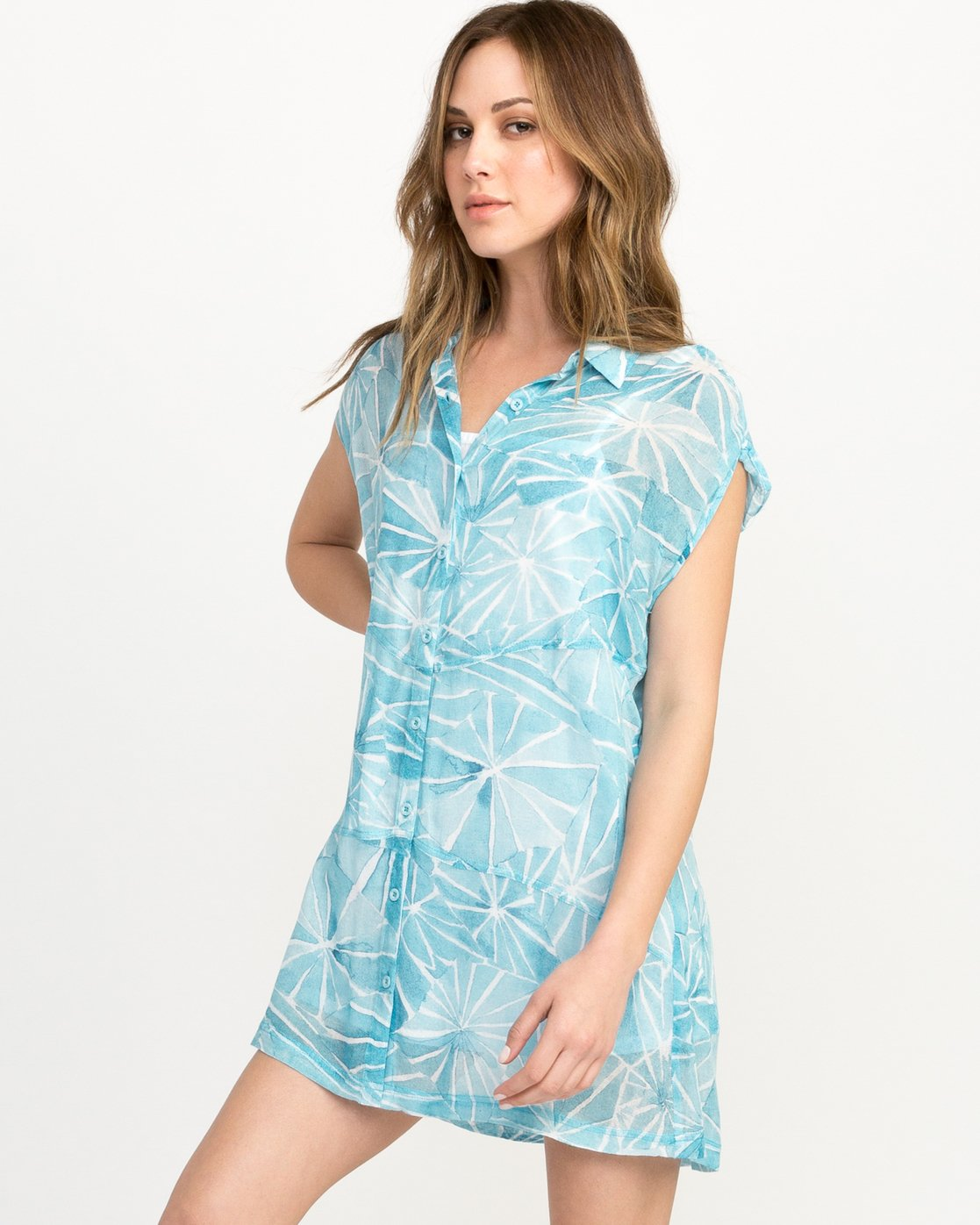 1 Michelle Blade Calapan Dress Blue WD08QRCA RVCA