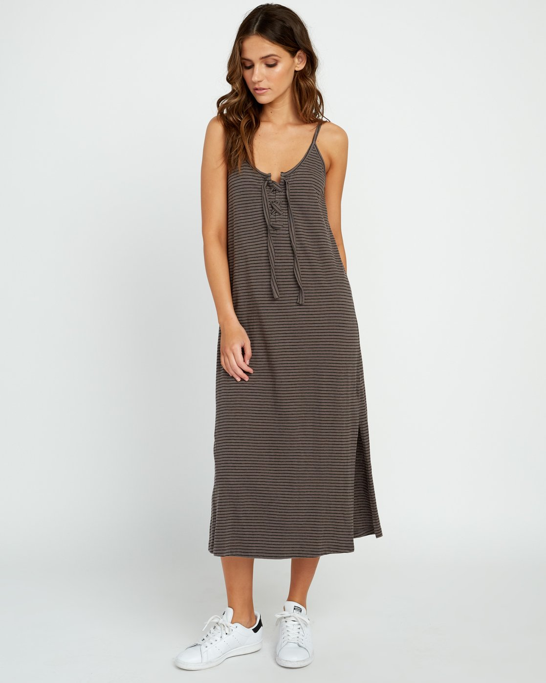 3 Equator Knit Midi Dress Grey WD08URBR RVCA