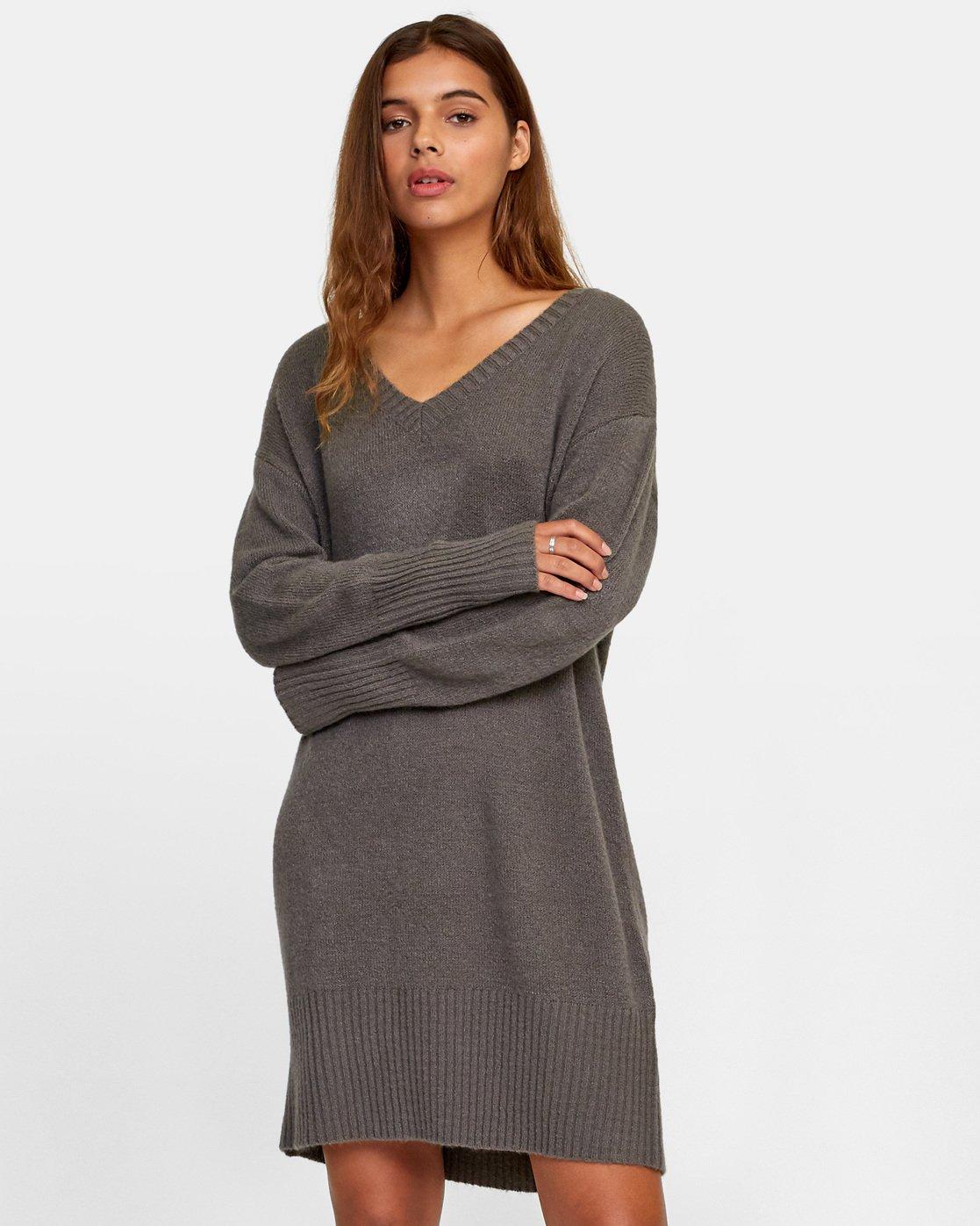 0 Quartz Sweater Dress Grey WD08WRQU RVCA