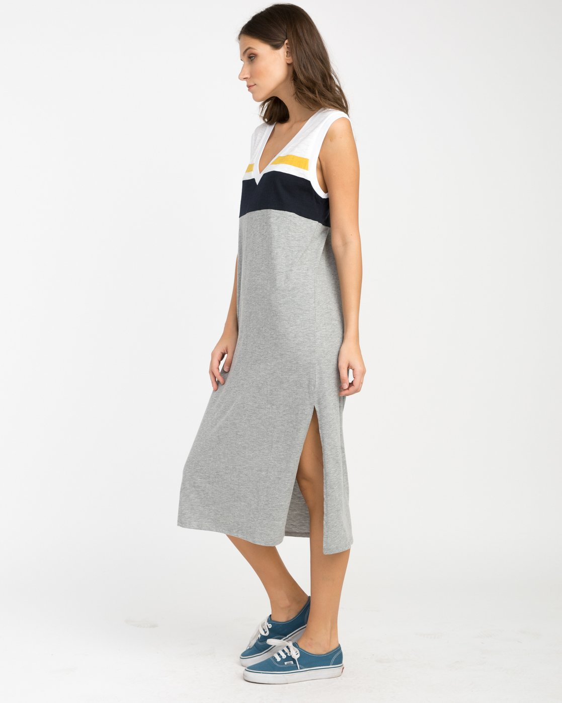 1 Scorekeeper Midi Dress Grey WD09NRSC RVCA