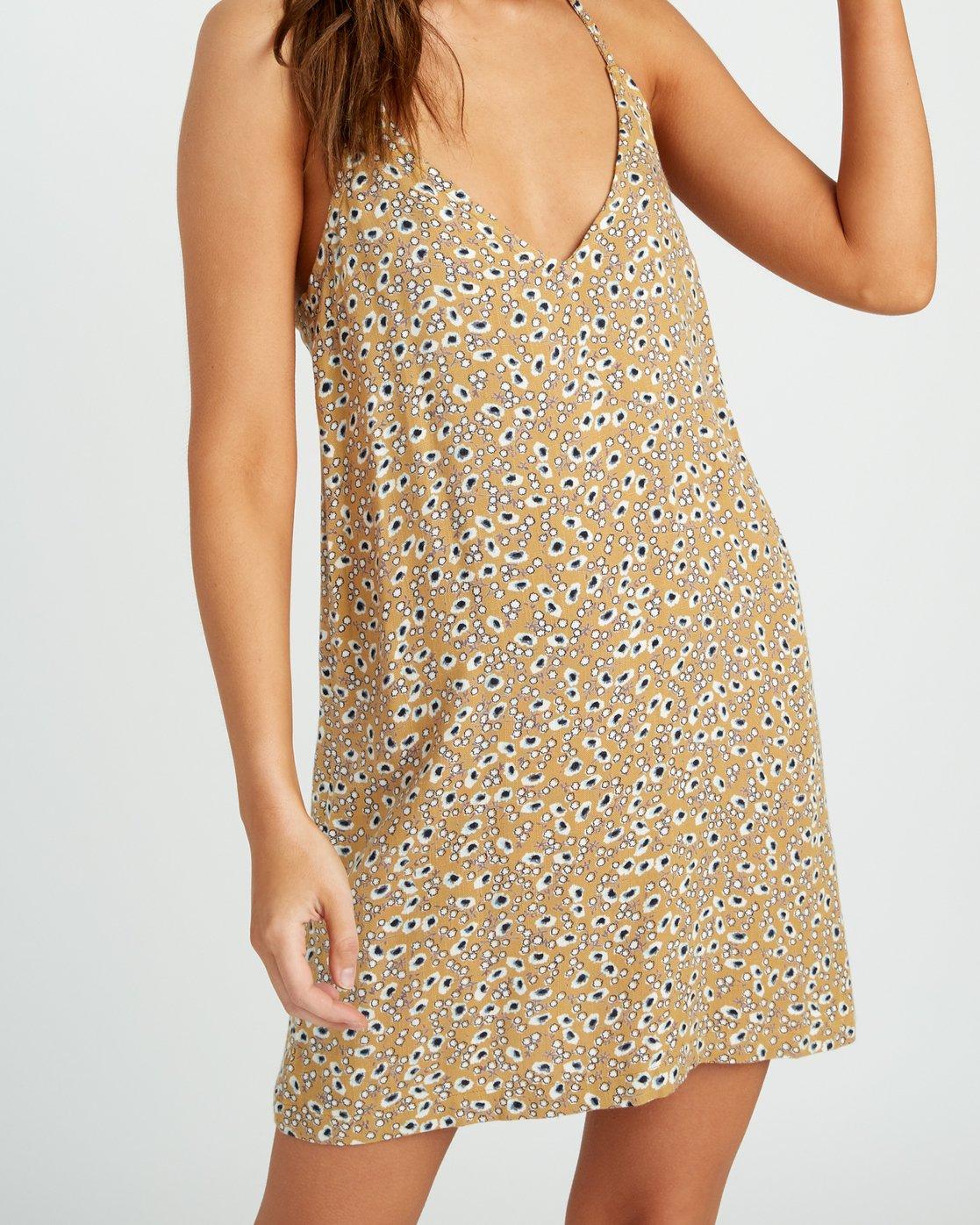 3 Fluke Printed Dress Yellow WD09URFL RVCA