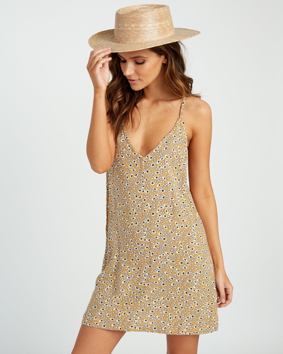 0 Fluke Printed Dress Yellow WD09URFL RVCA