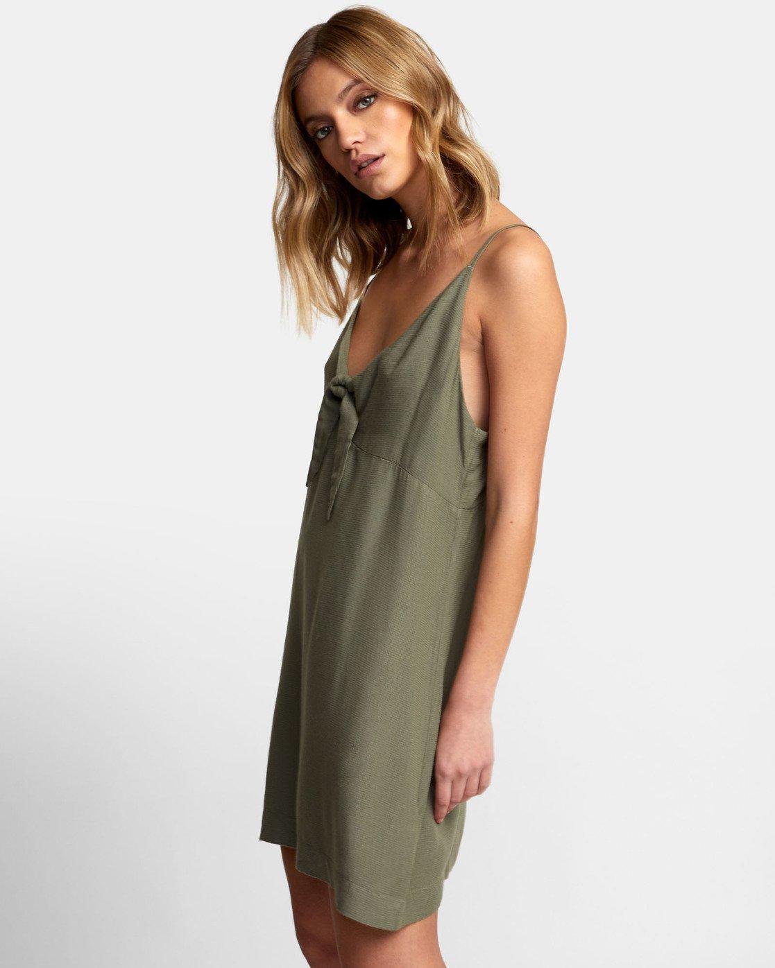 2 Capital Knot Tank Dress Green WD09WRCA RVCA