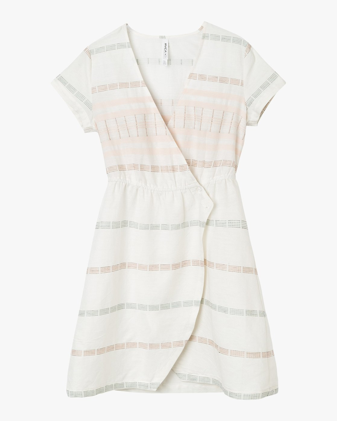 5 Rose Striped Wrap Dress  WD10PRRO RVCA