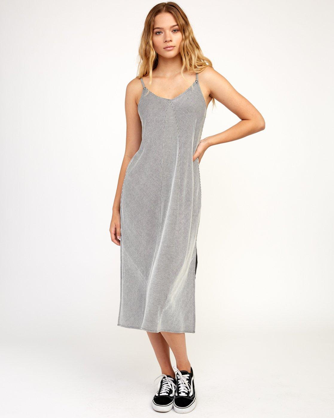 6 Layla Knit Midi Dress Black WD10TRLA RVCA