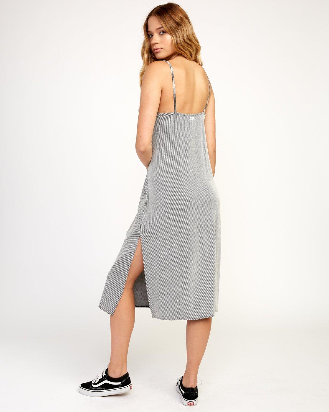 3 Layla Knit Midi Dress Black WD10TRLA RVCA