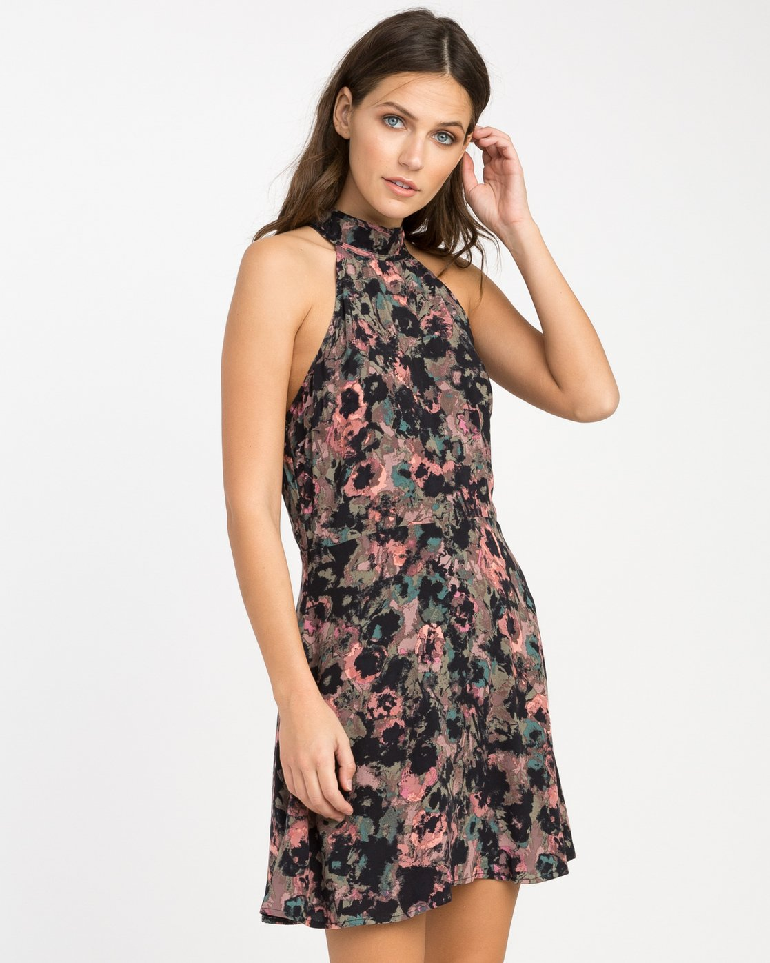 1 Kingsman Floral Dress  WD11NRKI RVCA