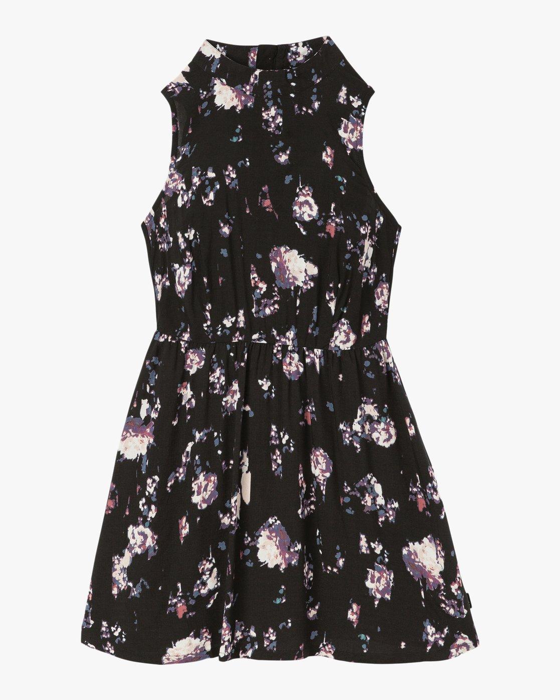 5 Resolution Floral Dress Black WD11SRRE RVCA