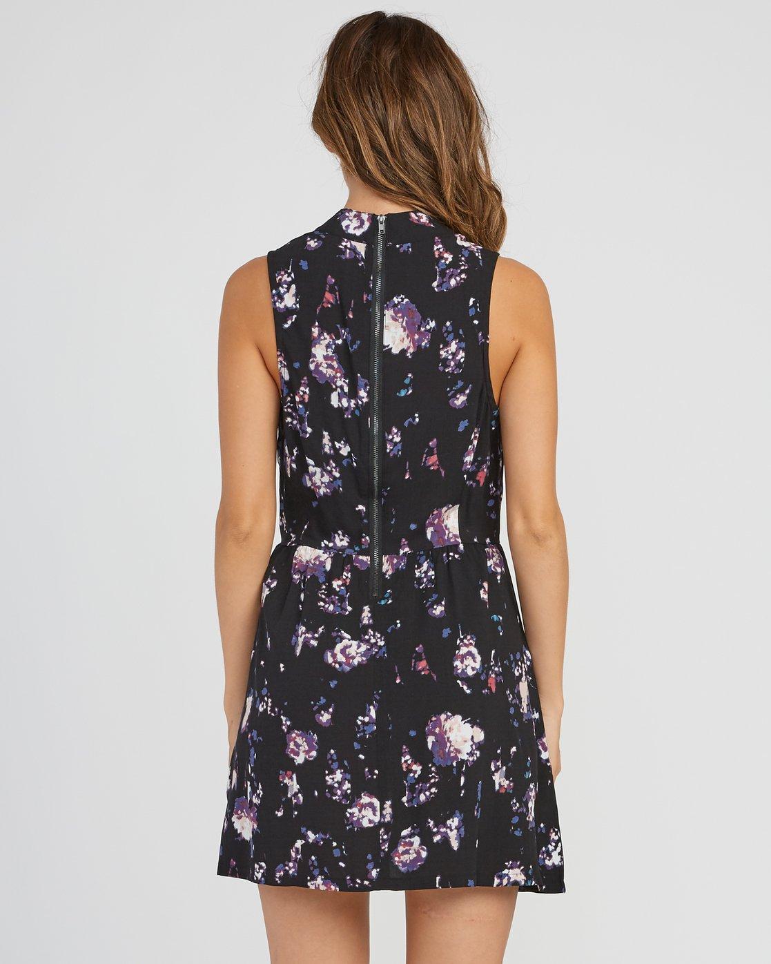 2 Resolution Floral Dress Black WD11SRRE RVCA