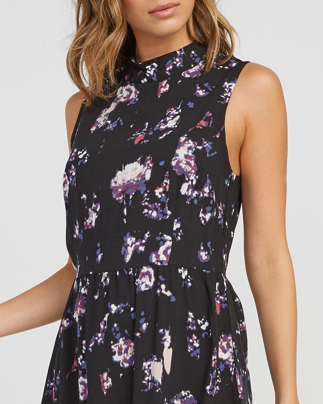 3 Resolution Floral Dress Black WD11SRRE RVCA