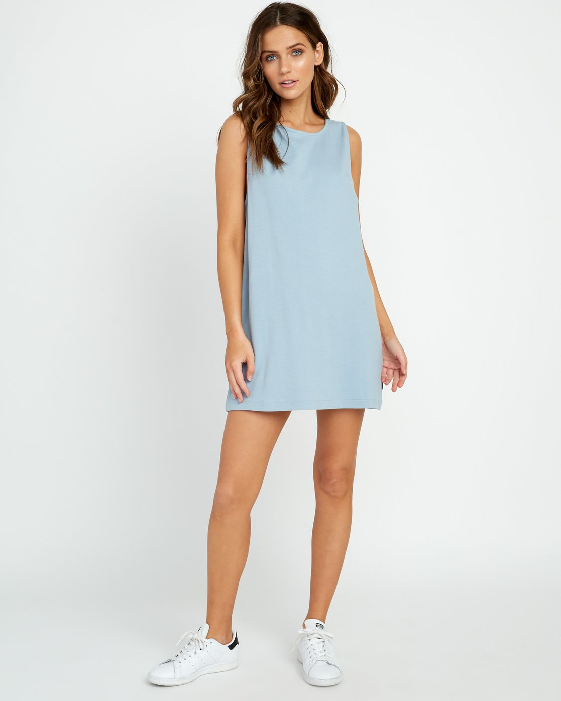 3 On The Fence Shift Dress Blue WD11URON RVCA