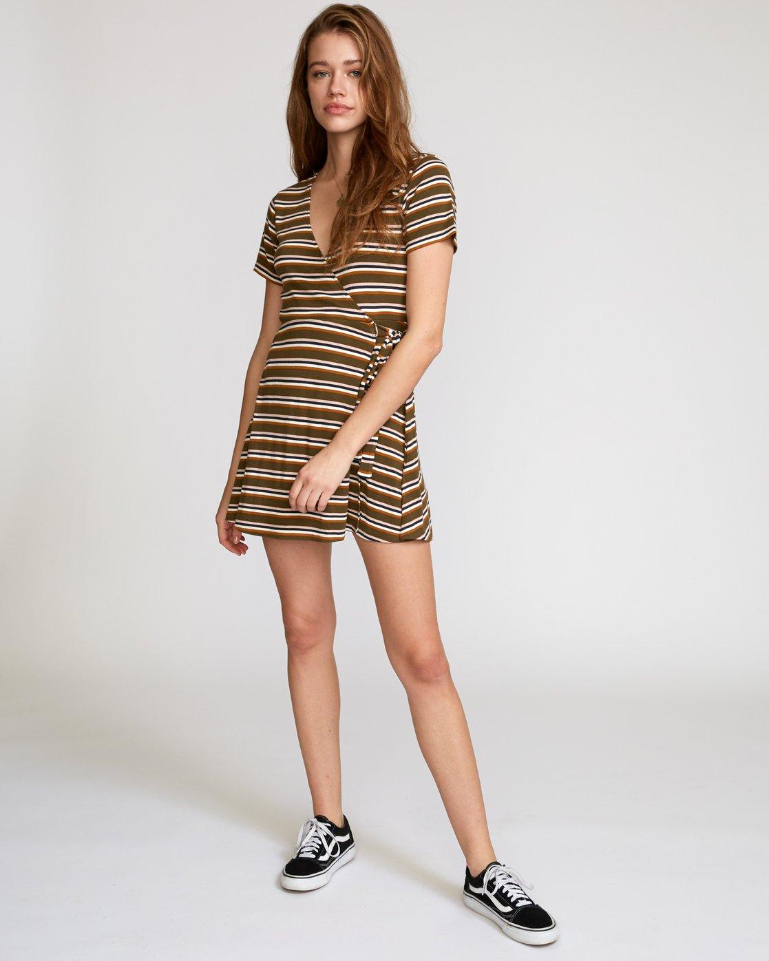 5 Slater Wrap Dress  WD11VRSL RVCA