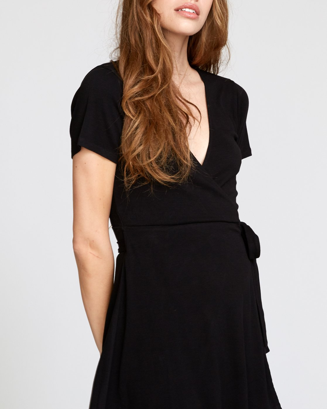 3 Slater Wrap Dress Black WD11VRSL RVCA