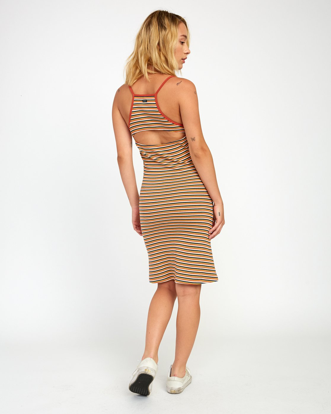 1 BIANCA STRIPED MIDI DRESS Grey WD121RBI RVCA