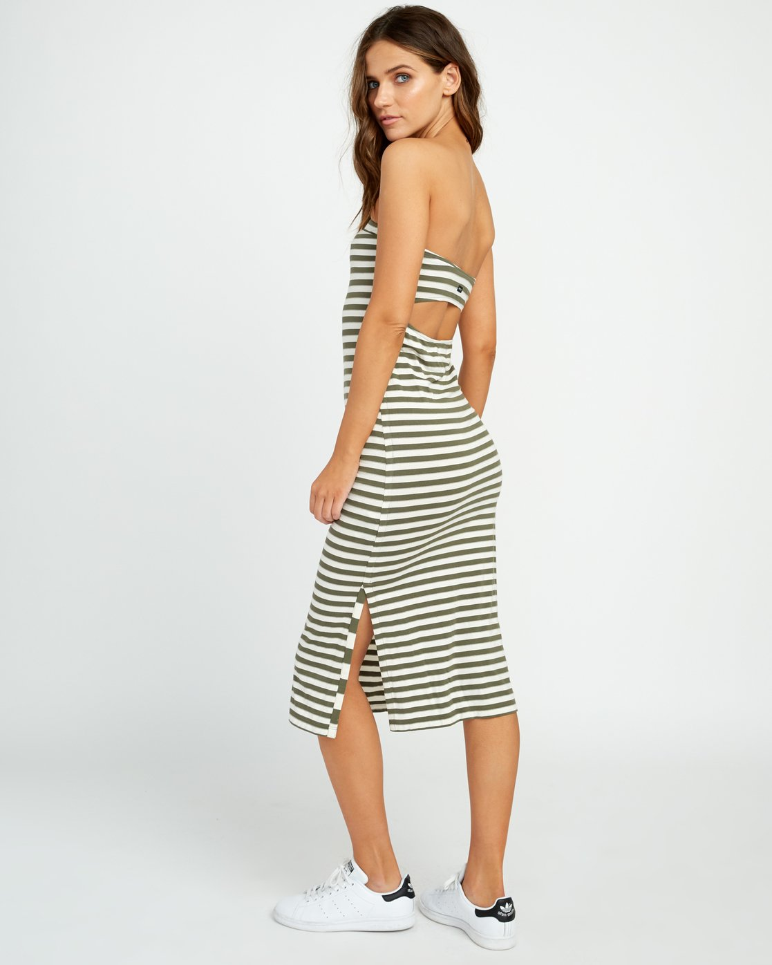 3 Raincheck Strapless Midi Dress Green WD12URRA RVCA