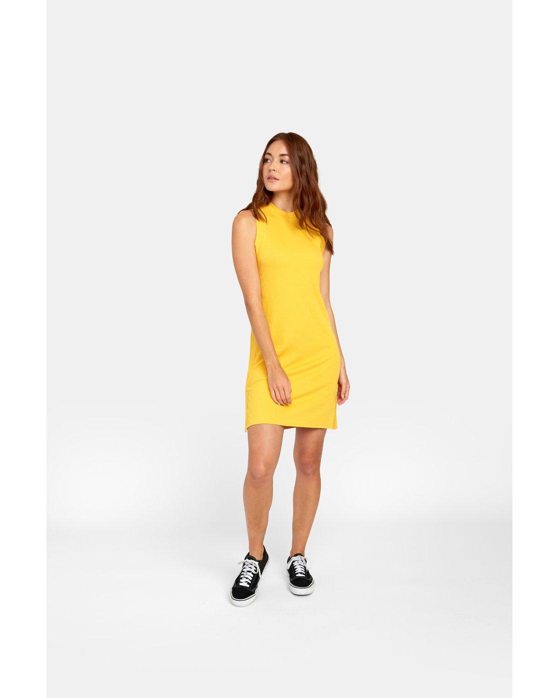 0 LEMMON MINI DRESS Yellow WD131RLE RVCA