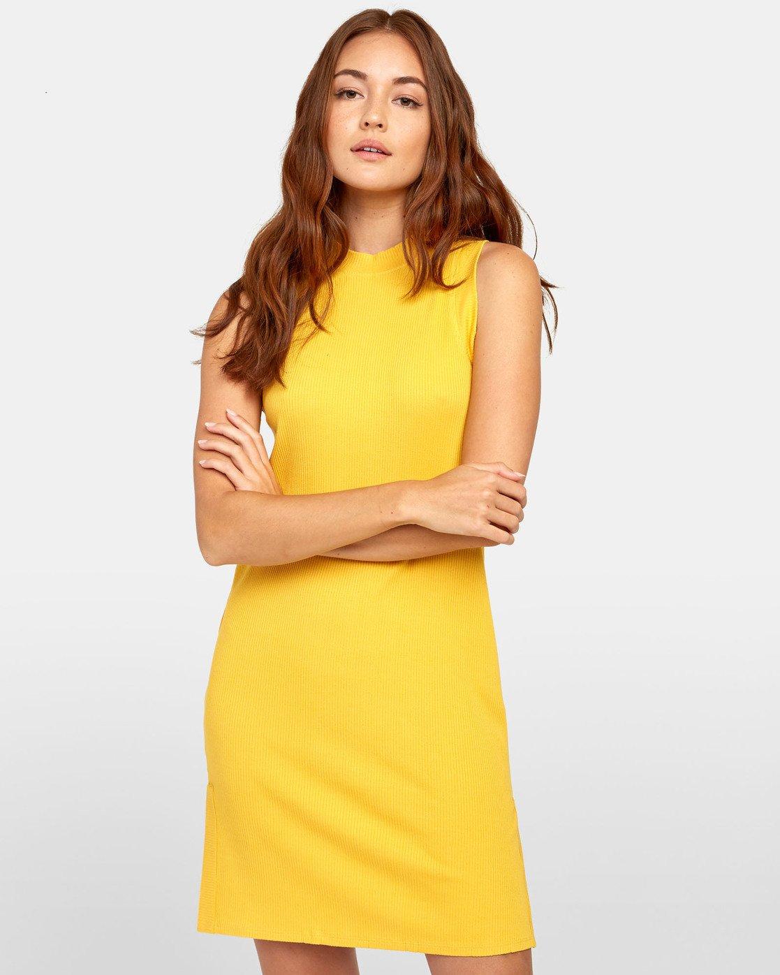 2 LEMMON MINI DRESS Yellow WD131RLE RVCA