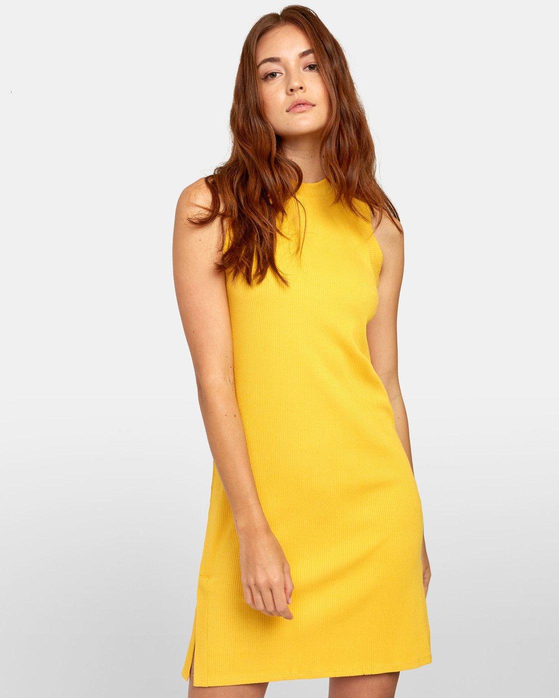 3 LEMMON MINI DRESS Yellow WD131RLE RVCA