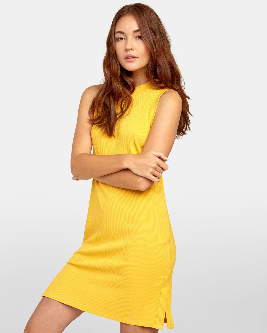 5 LEMMON MINI DRESS Yellow WD131RLE RVCA