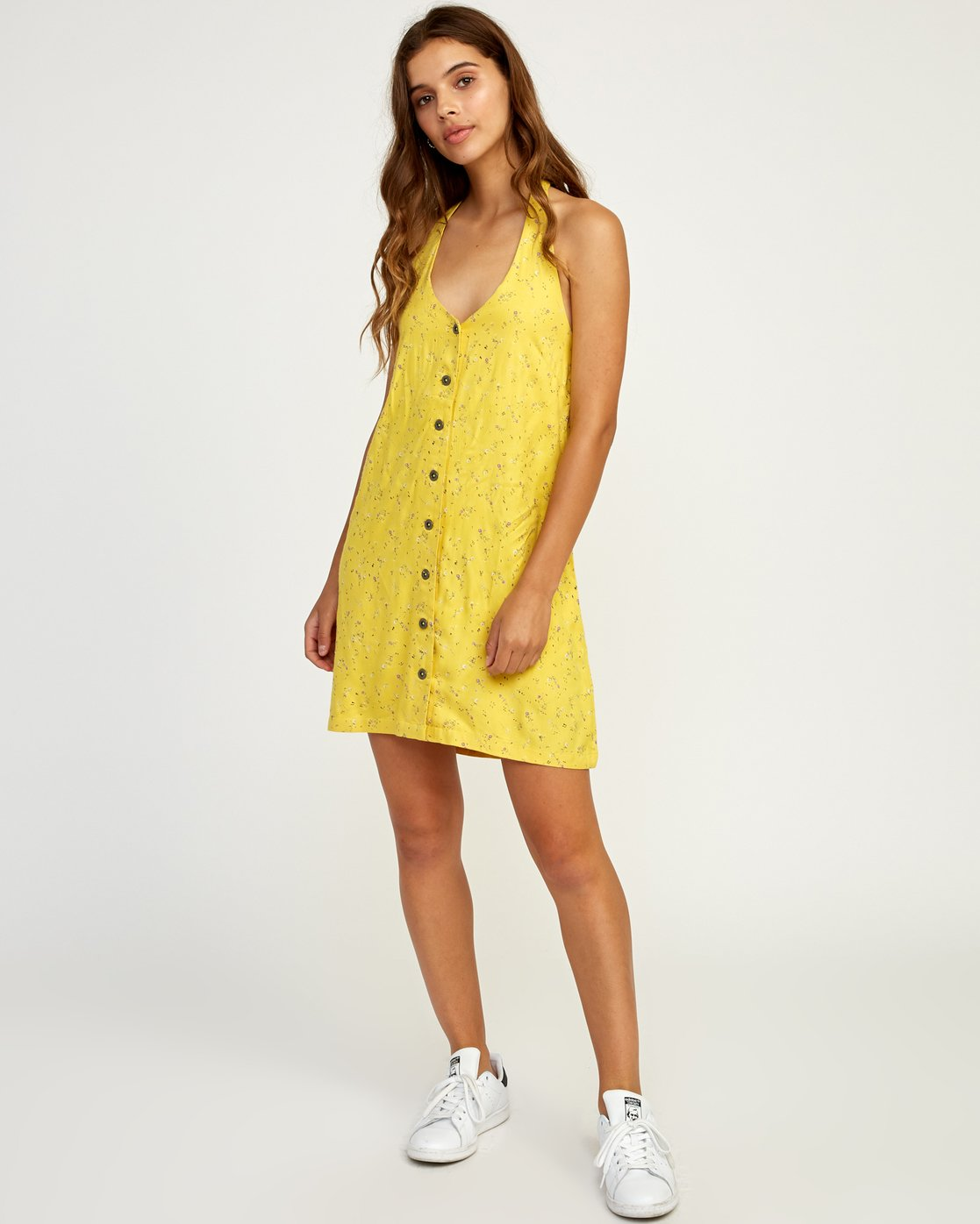 4 90s Baby Halter Dress Yellow WD13TR90 RVCA
