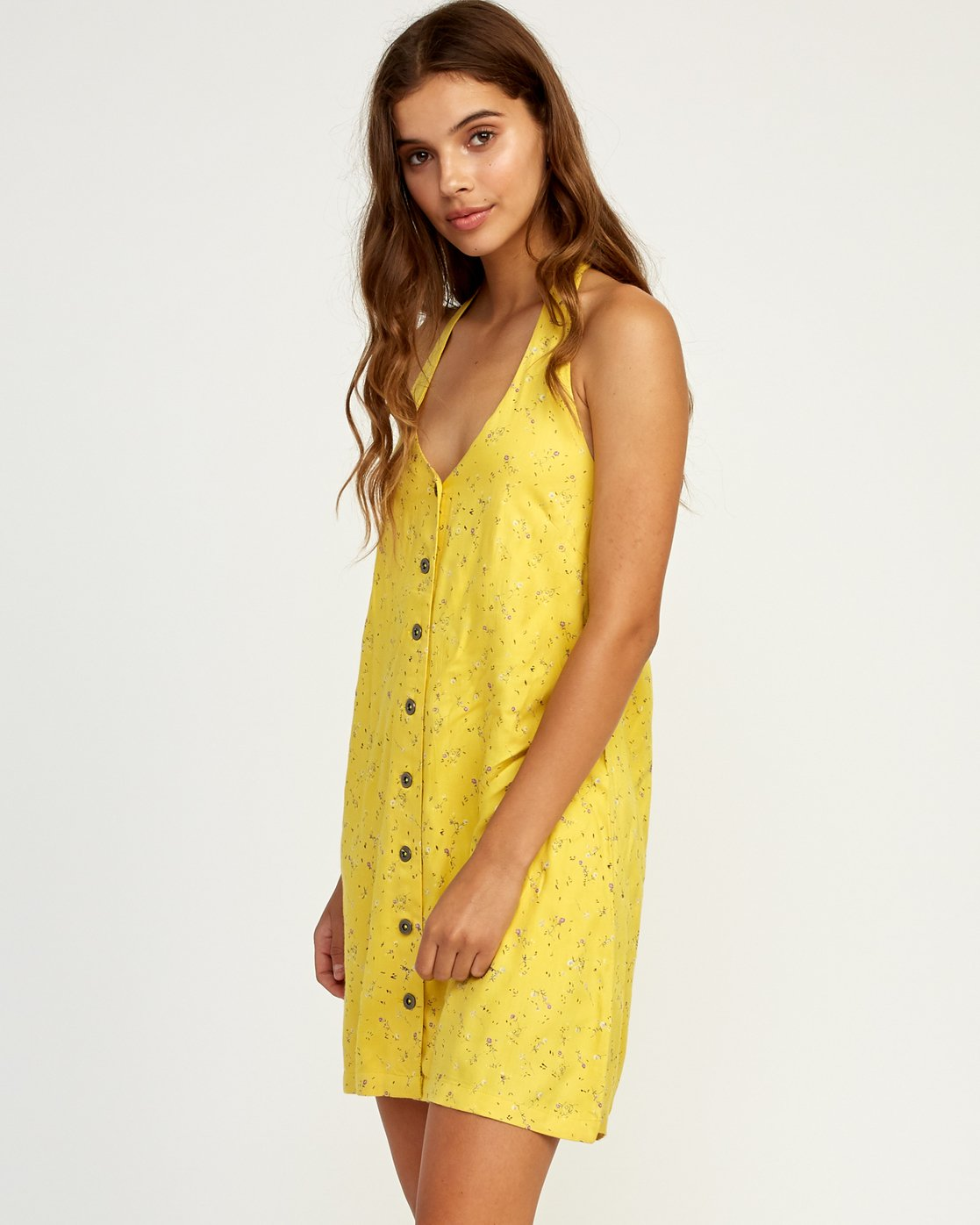 1 90s Baby Halter Dress Yellow WD13TR90 RVCA