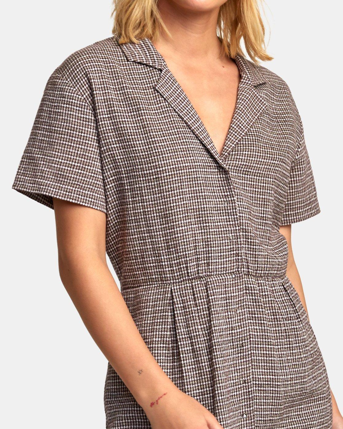 4 Breezy Shirt Dress Brown WD13WRBR RVCA