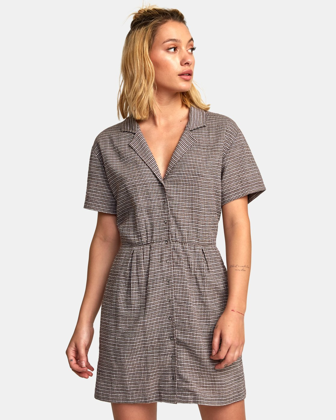 0 Breezy Shirt Dress Brown WD13WRBR RVCA