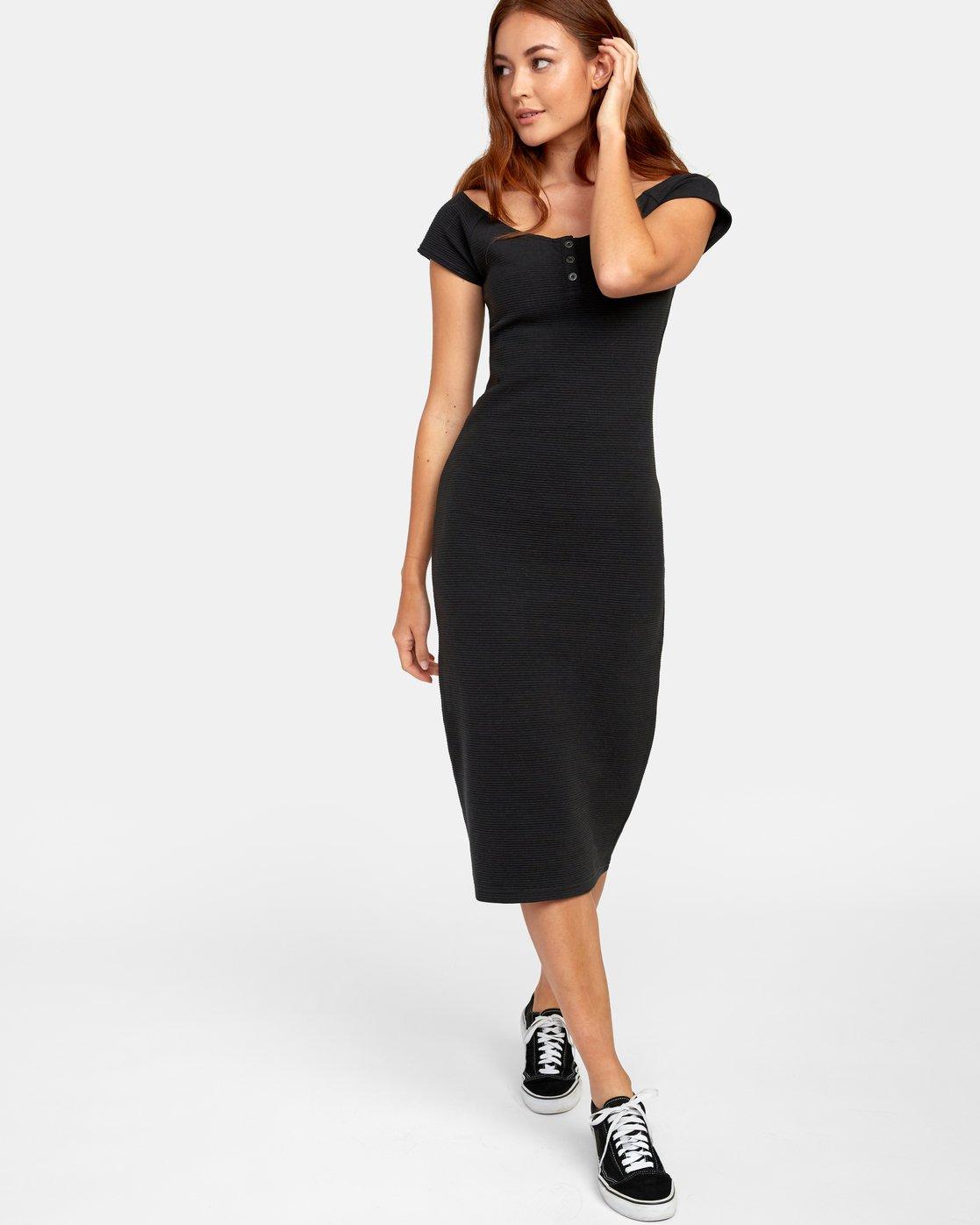 2 STRIPPED DOWN DRESS Black WD141RST RVCA