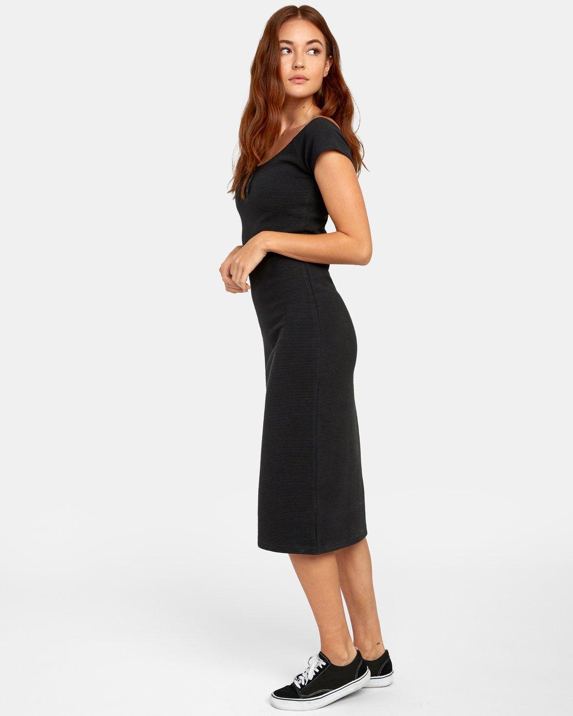 4 STRIPPED DOWN DRESS Black WD141RST RVCA