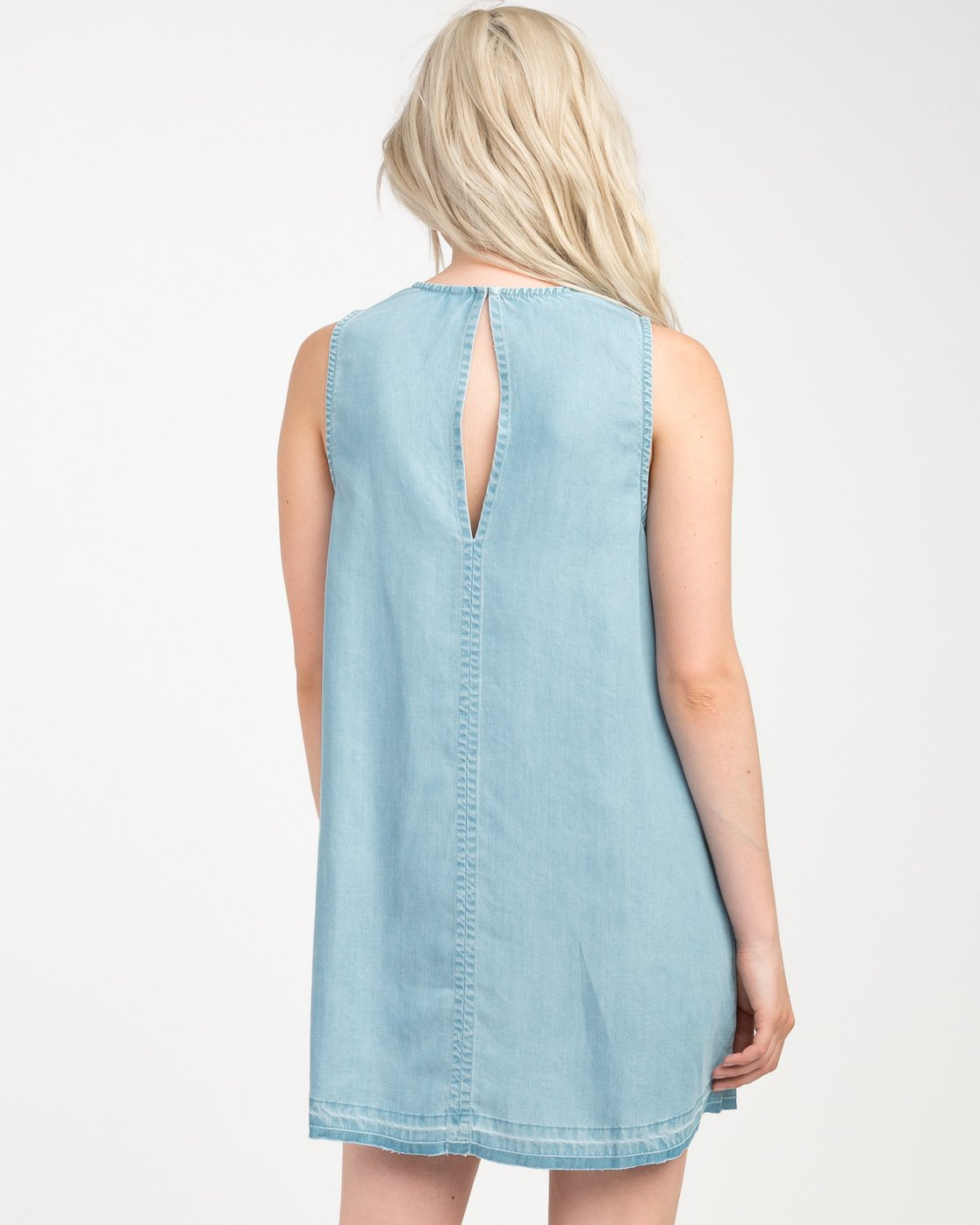 2 Release Chambray Dress Blue WD14NRRE RVCA