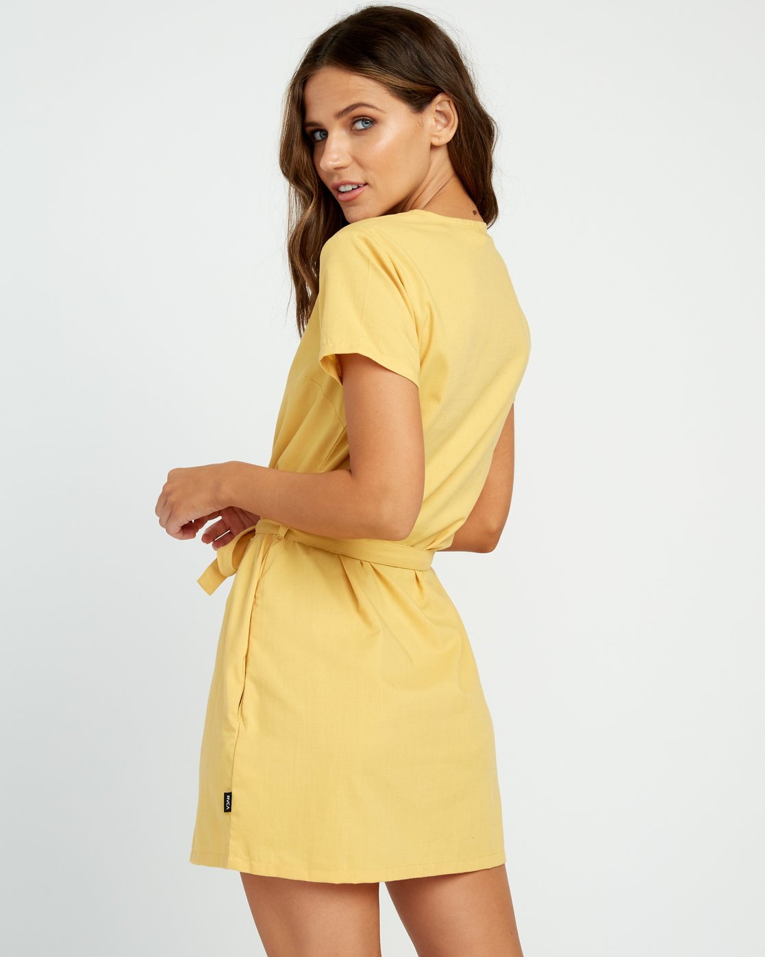 2 Landed Button-Up Dress Yellow WD14URLA RVCA