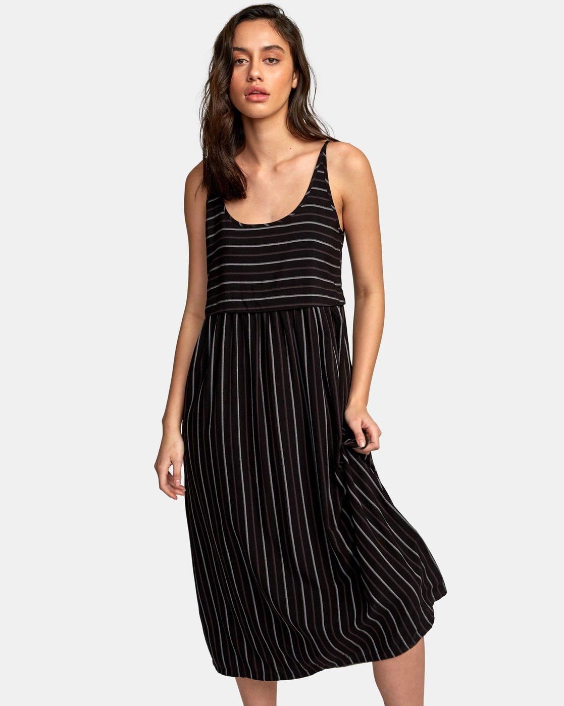 0 Square One Midi Dress Black WD14WRSO RVCA